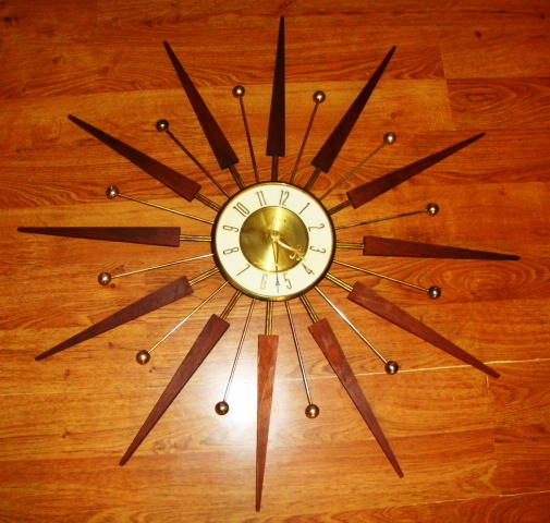 1970s Elgin Starburst Wall Clock
