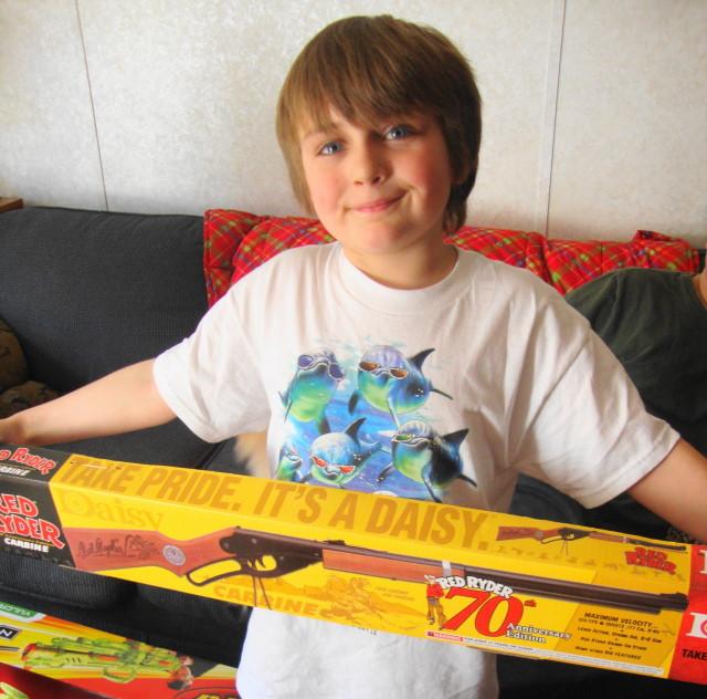 Grandson & his Red Ryder BB Gun
