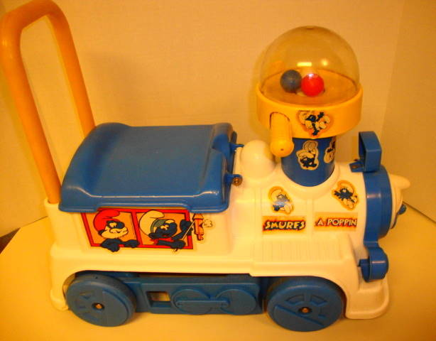 1981 Smurfs A Poppin Ride On Train