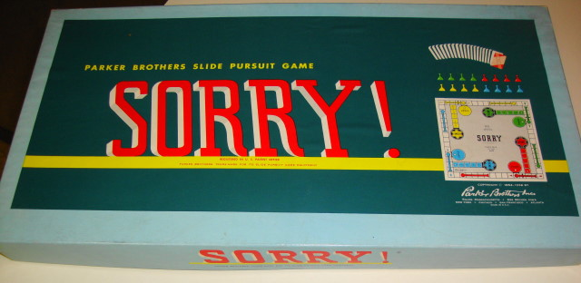 Patent Pending 1950s Sorry Game