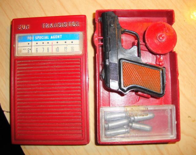1960s Spy Radio w/Shooting Gun