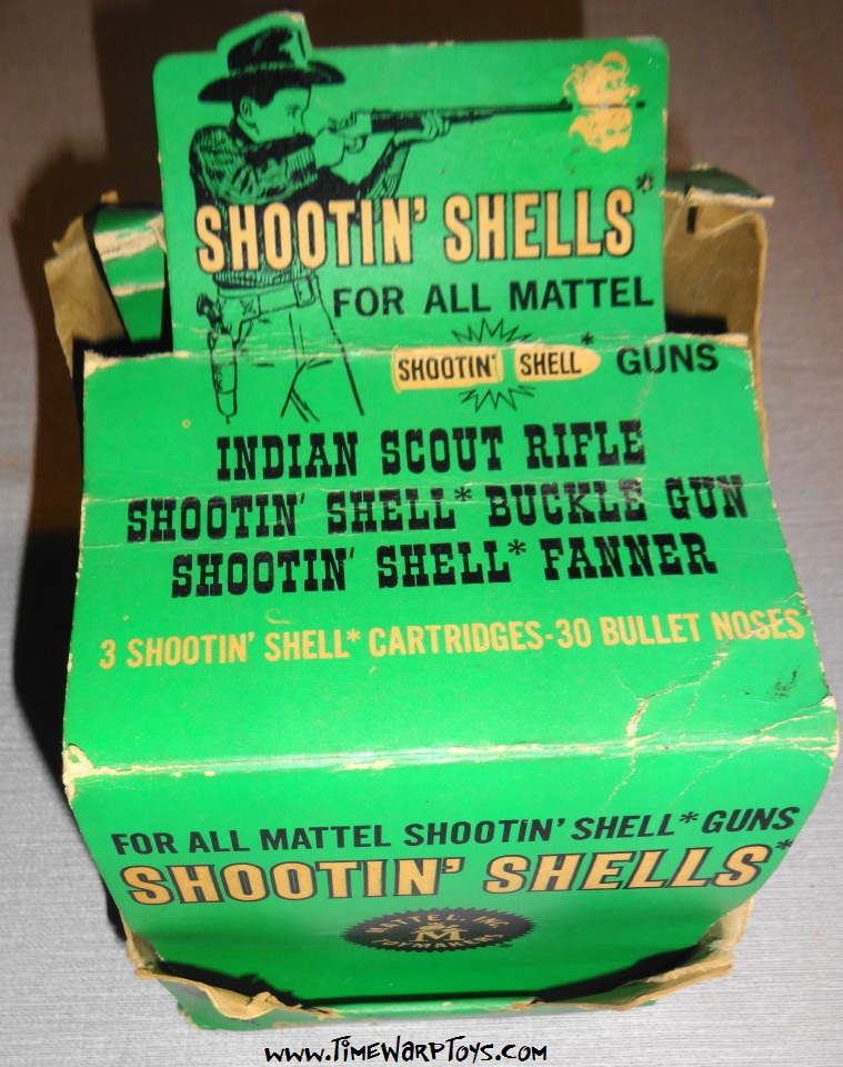 1958 Shootin Shell Bullets Store Box by Mattel