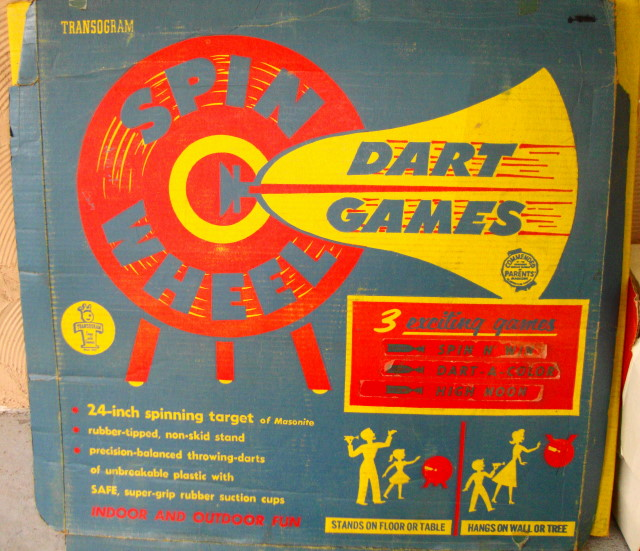 1960 Spin Wheel Dart Game
