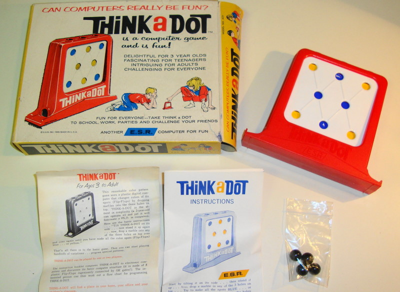 1960s Think A Dot Computer Game