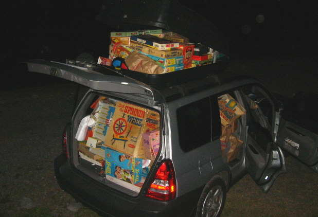 Subaru Packed with Vintage Toys!