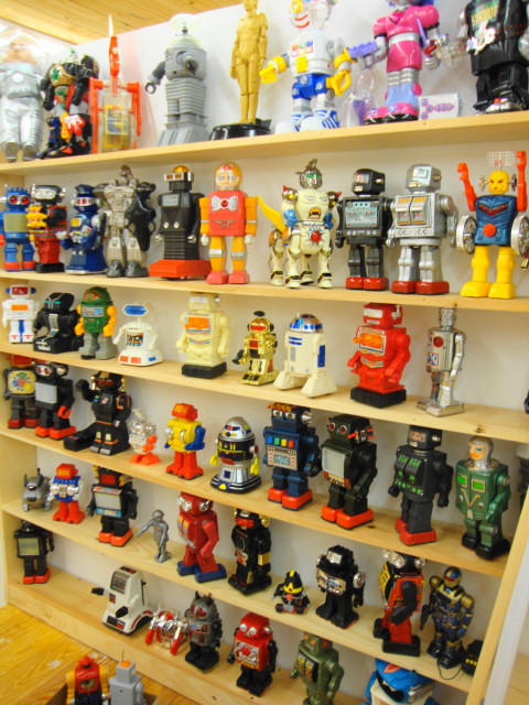 Toy Museum displa of Robots