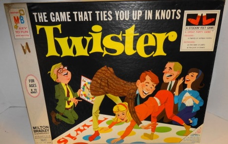 1965 Twister Game by Milton Bradley