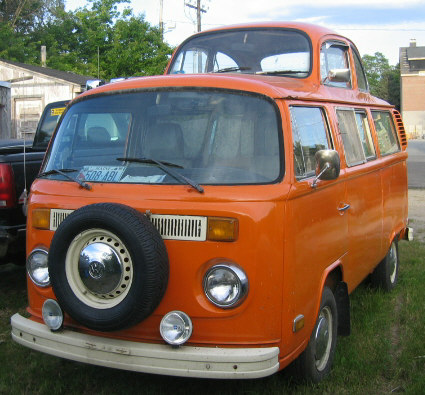Looks like 1970s Beetle attached to VW Van