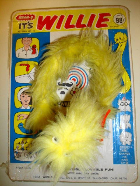 1964 Willie Furry Plush Toy by Wham-O