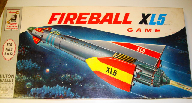 1964 Fireball XL5 Board Game by Milton Bradley