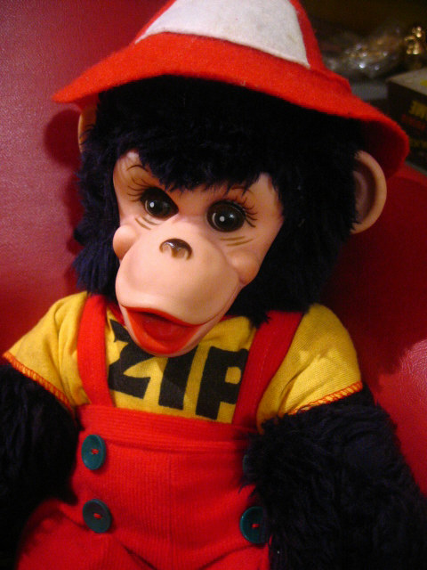 Zippy The Chimp - 1950s Vintage Stuffed Toy